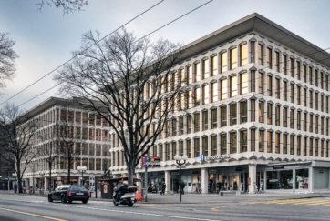 Luzerner Kantonalbank - Ansicht Ost - Karl Steiner Generalunternehmen - 1973 - Luzern