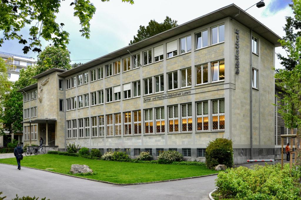 Zentralbibliothek - Ansicht NO - Dreyer, Otto - 1951 - Luzern