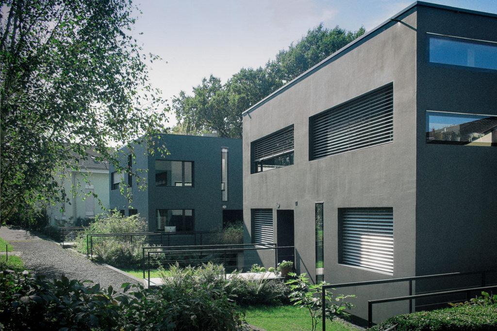 Zwei Doppelhäuser - Ansicht Nordost - Marques AG - 1999 - Luzern