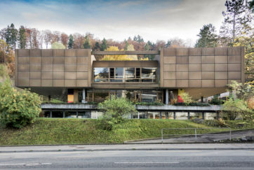 Grenzhofschulhaus - Ansicht Nord - Gübelin Hodel - 1967 - Littau