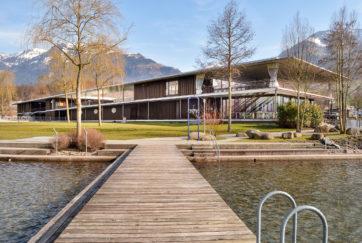 Erlebnisbad Seefeld Park - Ansicht Nordwest - Seiler Linhart Architekten AG, Joos Mathys Architekten - 2011 - Sarnen