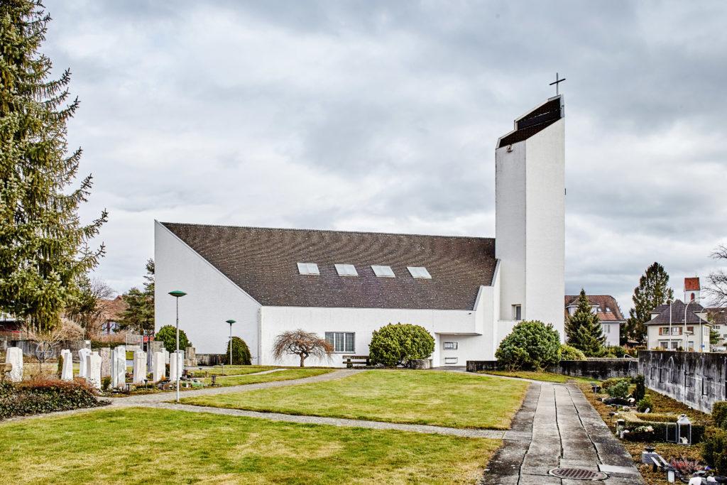 Pfarrkirche St. Johannes - Ansicht Nordwest - Brantschen, Ernest - 1965 - Hohenrain