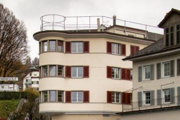 Eckhaus an der Schanz - Ansicht West - Schneebeli, Max - 1928 - Zug