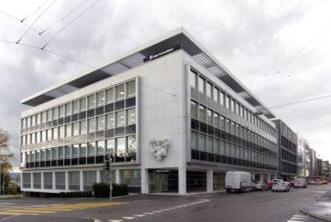 Zuger Kantonalbank - Ansicht Südost - Hafner Wiederkehr - 1958 - Zug