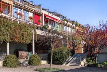 Wohnüberbauung Prowoba - Ansicht West - Wettstein, Arnold - 1976 - Unterägeri