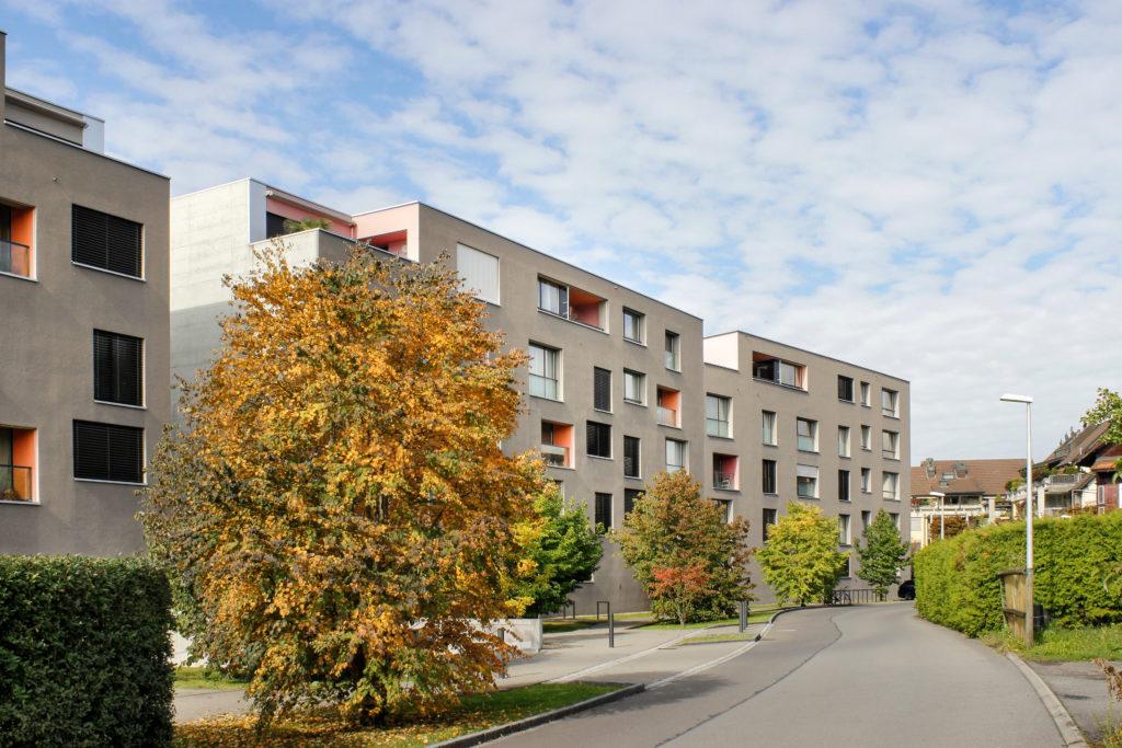 Überbauung Chriesimatt - Ansicht Süd (Riegel Ost) - Graber Pulver - 2014 - Baar