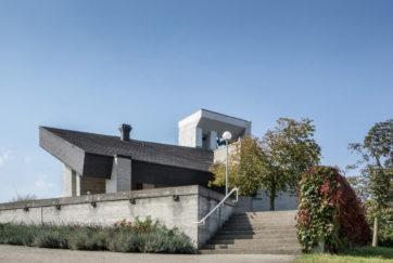 Reformierte Kirche - Ansicht Ost - B. und M. Huber Architekten - 1971 - Rotkreuz