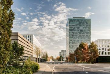 Roche-Hochhaus - Ansicht Südwest - Burckhardt Partner AG - 2011 - Rotkreuz
