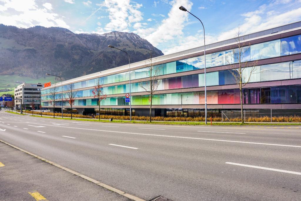 Einkaufszentrum Länderpark - Ansicht Nord - Klemenz Flubacher - 1980 - Stans