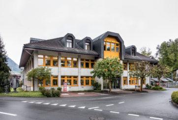 Verwaltungsgebäude EWN - Ansicht Nordost - Reinhard, Hans - 1984 - Oberdorf