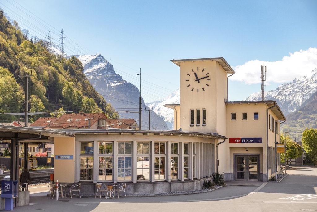 Stationsgebäude SBB - Ansicht Nordwest - Hochbaubüro SBB - 1944 - Flüelen