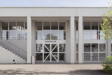 Dreifachturnhalle - Ansicht Nord (Ausschnitt) - Müller Bisig Architekturbüro AG - 1988 - Pfäffikon