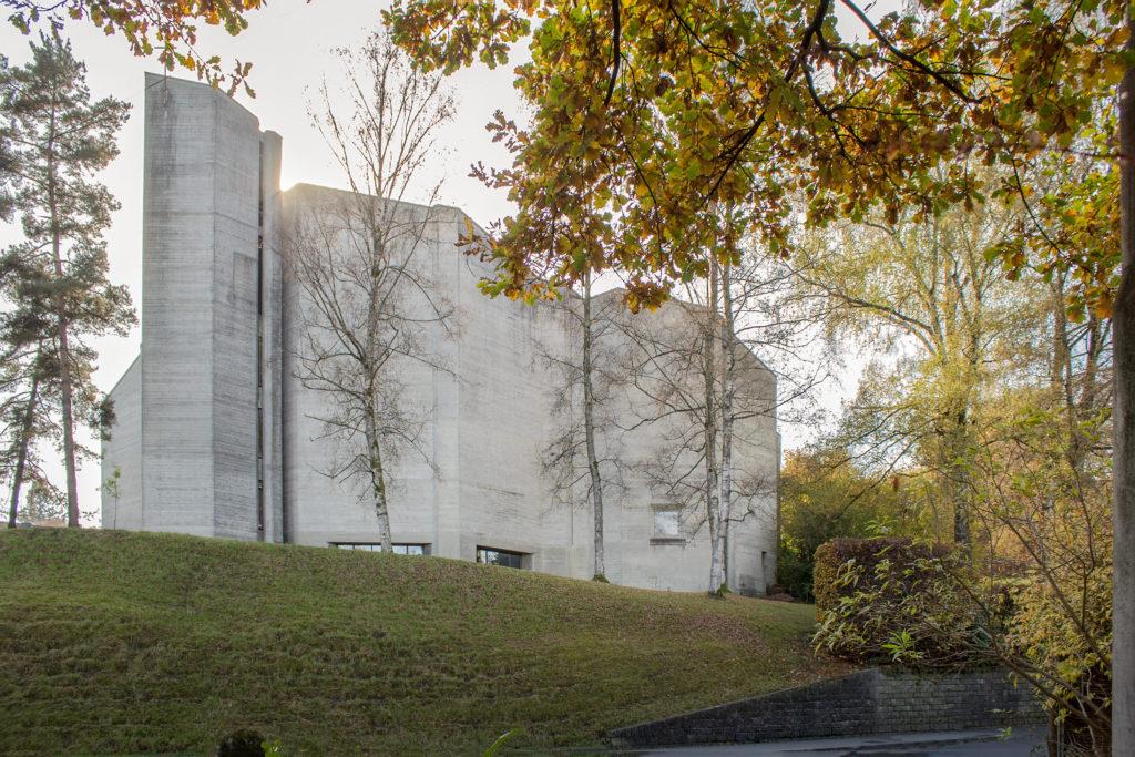 Pfarreizentrum St. Michael - Ansicht Nord - Brütsch, Hanns A. - 1967 - Luzern