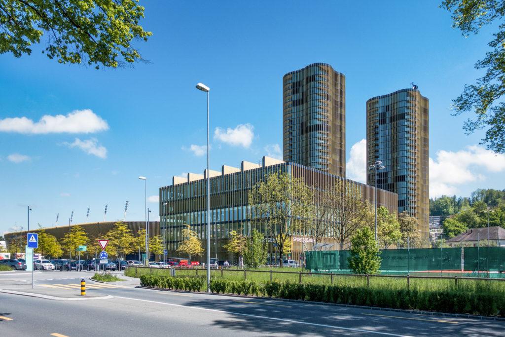 Wohntürme HochZwei - Ansicht Südwest - Marques AG, Iwan Bühler GmbH - 2012 - Luzern