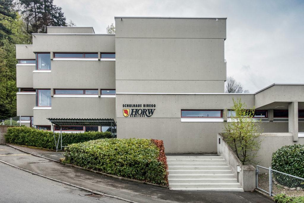 Schulhaus Biregg - Ansicht Nord - Ammann Baumann - 1968 - Luzern