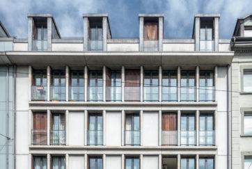 Geschäftshaus Piazza - Ansicht Südost (Ausschnitt) - Cometti Galliker Geissbühler Architekten - 1993 - Luzern