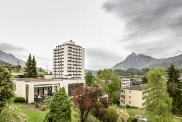 Wohnsiedlung Bitzighofen - Ansicht Südwest - Wyss, Werner - 1973 - Sarnen
