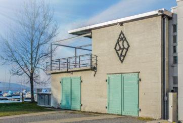 Boots- und Clubhaus - Ansicht Ost - Wilhelm, Walter F., Hochstrasser, Theo - 1938 - Zug