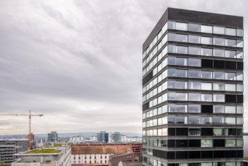 Hochhaus B125 - Ansicht Ost - Brühwiler, Philipp, Konrad Hürlimann Architekten - 2014 - Zug
