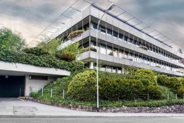 Suva-Erweiterung «Trakt B» - Ansicht Südwest - Ziegler, Max - 1968 - Luzern
